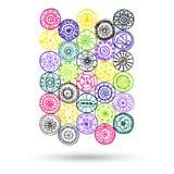 Elemento de Henna Paisley Mehndi Abstract Vector. Imagen de archivo