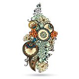 Elemento de Henna Paisley Mehndi Abstract Vector. stock de ilustración