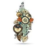 Elemento de Henna Paisley Mehndi Abstract Vector. Fotografía de archivo
