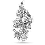 Elemento de Henna Paisley Mehndi Abstract Vector. Imagen de archivo libre de regalías