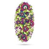 Elemento de Henna Paisley Mehndi Doodles Design. Foto de archivo