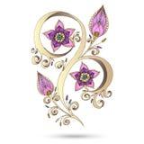 Elemento de Henna Paisley Mehndi Doodles Design. Foto de archivo libre de regalías