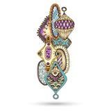Elemento de Henna Paisley Mehndi Doodles Design Imagen de archivo libre de regalías