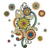Elemento de Henna Paisley Mehndi Doodles Design Imagen de archivo