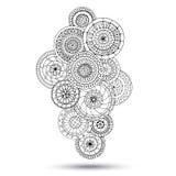 Elemento de Henna Paisley Mehndi Doodles Design Fotografía de archivo