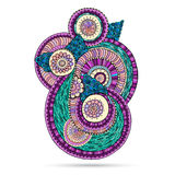 Elemento de Henna Paisley Mehndi Doodles Floral Imágenes de archivo libres de regalías