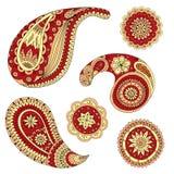 Elemento de Henna Paisley Mehndi Vector Design Imagen de archivo libre de regalías