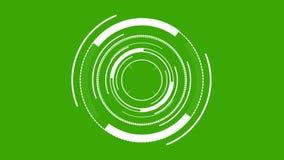 Elemento de HUD digital - branco circular na tela verde ilustração royalty free
