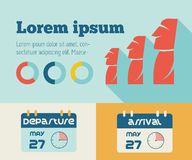Elemento de Infographic do curso Imagem de Stock Royalty Free