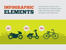 Elemento de Infographic do transporte Fotos de Stock Royalty Free
