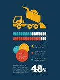 Elemento de Infographic do transporte Imagem de Stock Royalty Free