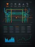 Elemento de Infographics con una correspondencia de la ciudad Imagen de archivo libre de regalías
