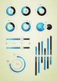 Elemento de Infographics na água Imagens de Stock Royalty Free