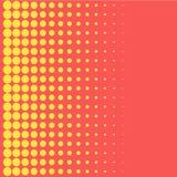 Elemento de intervalo mínimo do projeto da cor dos pontos do amarelo do estilo do pop art do fundo para bandeiras da Web, cartaze Foto de Stock Royalty Free
