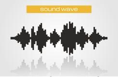 Elemento de intervalo mínimo do projeto da música moderna de onda sadia Fotografia de Stock Royalty Free