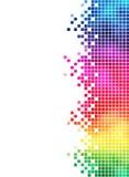 Elemento de la cara del mosaico del arco iris ilustración del vector