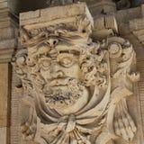 Elemento de la decoración arquitectónica en el estilo barroco, Dresde foto de archivo libre de regalías
