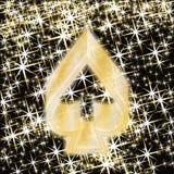 Elemento de la espada del póker, bandera del casino, vector Foto de archivo libre de regalías