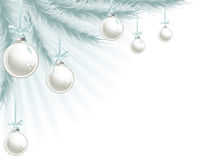 Elemento de la esquina del árbol de navidad Fotos de archivo