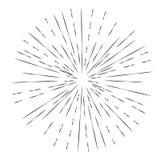 Elemento de la explosión de la estrella stock de ilustración