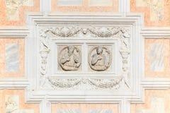 Elemento de la fachada de St Zaccaria en Venecia Imágenes de archivo libres de regalías