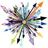 Elemento de la flecha Foto de archivo