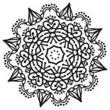 Elemento de la mandala del zentangle del dibujo de la mano Fotos de archivo libres de regalías