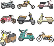 Elemento de la motocicleta del Doodle Fotos de archivo libres de regalías