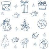Elemento de la Navidad con garabato del drenaje de la mano Imágenes de archivo libres de regalías
