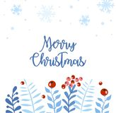 Elemento de la Navidad y del Año Nuevo, cartel para su diseño ilustración del vector