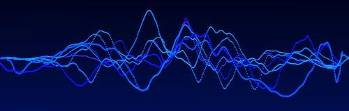 Elemento de la onda ac?stica Equalizador digital azul del extracto Visualizaci?n grande de los datos Flujo ligero din?mico repres ilustración del vector