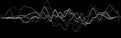 Elemento de la onda ac?stica Equalizador digital del negro del extracto Visualizaci?n grande de los datos Flujo ligero din?mico r libre illustration