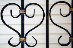 Elemento de la rejilla decorativa del metal fotografía de archivo