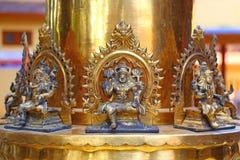 Elemento de las columnas del oro Templo de Shiva Fotografía de archivo