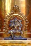 Elemento de las columnas del oro Templo de Shiva Imagen de archivo