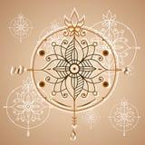 Elemento de las rosas de compás del vintage, del icono y del diseño Etiqueta náutica del vector Fotos de archivo libres de regalías