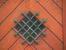 Elemento de madera del diseño de la puerta Fotos de archivo