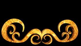 Elemento de madera del ornamento Imagen de archivo libre de regalías
