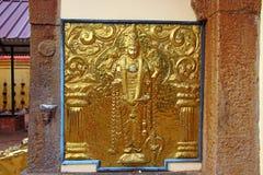 Elemento de oro del templo hindú shiva Swami Temple de Janardana Foto de archivo