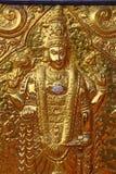 Elemento de oro del templo hindú shiva Swami Temple de Janardana Fotos de archivo