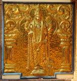 Elemento de oro del templo hindú shiva Swami Temple de Janardana Fotografía de archivo libre de regalías