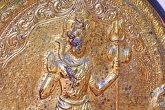 Elemento de oro del templo hindú shiva Swami Temple de Janardana Foto de archivo libre de regalías