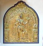 Elemento de oro del templo hindú shiva Swami Temple de Janardana Fotos de archivo libres de regalías