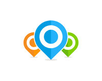 Elemento de Pin Point Icon Logo Design Foto de archivo libre de regalías