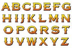 Elemento de Scrapbooking del estilo del carnaval del alfabeto de Digitaces Imagen de archivo libre de regalías