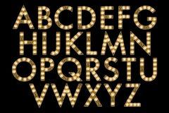 Elemento de Scrapbooking do estilo do famoso do alfabeto de Digitas Fotos de Stock