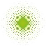 Elemento de semitono del diseño del vector del marco del círculo Fotografía de archivo