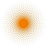 Elemento de semitono del diseño del vector del marco del círculo Imágenes de archivo libres de regalías