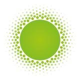 Elemento de semitono del diseño del vector del marco del círculo Fotos de archivo