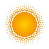 Elemento de semitono del diseño del vector del marco del círculo Imagen de archivo libre de regalías